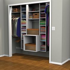 Kreg Project Plan: Closet Organizer. Turn a chaotic closet into an organized oasis with an adaptable organizer that you can customize to fit your space.