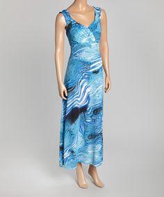 Look what I found on #zulily! Blue Wave Maxi Dress by Studio West #zulilyfinds