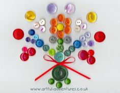 """""""Lines Across"""": Cute as a Button - Amazing Button Crafts from Around the Web"""