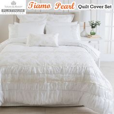 Tiamo Pearl Quilt Cover Set by Platinum Collection