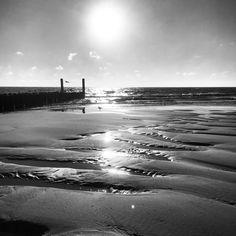 #beach #haamstede #blackandwhite #dezeekust