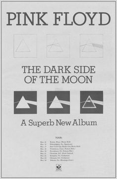 Pink Floyd, 'Dark Side of the Moon' 1973 promo advertisement.