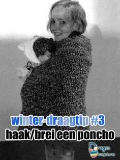 wintertip3 #Haakbrei een draagponcho #dragenkunjeleren