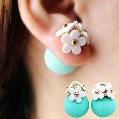 Summer Flower Double Stud Earrings from styledrestyled.com