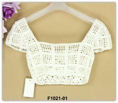 ladies mini sexy ultrashort skintight blouses handmade crocheted