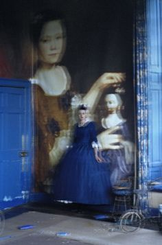 """Christopher Steele's Polly Patterson, circa 1765 - """"Blow Up"""" by Tim Walker for W Magazine April 2011 Editorial Photography, Art Photography, Fashion Photography, Photography Magazine, Famous Photography, Conceptual Photography, Lifestyle Photography, Victoria And Albert Museum, Chambray"""