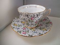 Vintage Rosina Bone China June Teacup Tea Cup & Saucer England