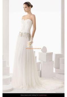 Robe de Mariée longue avec bustier col en coeur perles