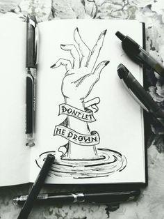 Drown - bring me the horizon music drawings, dark drawings, sketchbook drawings, cool Sad Drawings, Music Drawings, Sketchbook Drawings, Drawing Sketches, Pencil Drawings, Drawings Of Sadness, Anchor Drawings, Pencil Art, Sketching