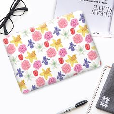 Gardeb Flowers MacBook case by Rachel Corcoran for @casetify    #casetify #macbookcase #macbook #flowers #floral #macbookpro