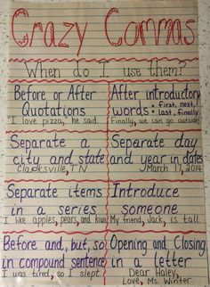 s campground : anchor charts school ideas английская грамма Teaching Grammar, Teaching Writing, Teaching Tips, Teaching English, Education English, Values Education, Education Week, Teaching Outfits, How To Teach Writing