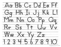 free traceable letters and numbers | Alphabet Tracing Page- 26 Upper and Lowercase Letters