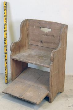 Chair from Vendel's church, Uppland, Sweden. Medieval. 91 cm high and 59 cm wide.