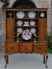 Antique English Oak LARGE Victorian Era Sideboard Welsh Dresser Buffet Server