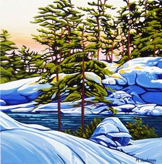 Killarney Tapestry ~ by Margarethe Vanderpas, Canada Landscape Drawings, Landscape Pictures, Landscape Art, Landscape Paintings, Landscapes, Acrylic Painting Lessons, Sketch Painting, Watercolor Paintings, Oil Paintings