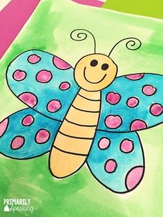 April Round Up – Preschool spring – Home crafts Drawing Pictures For Kids, Art Drawings For Kids, Easy Drawings, Art For Kids, Basic Drawing For Kids, Drawing Lessons For Kids, Kindergarten Art, Preschool Art, Spring Drawing