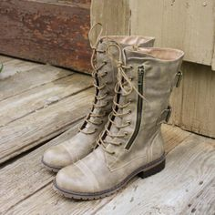 Sweet & Rugged Combat Boots