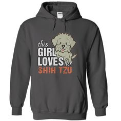 This Girl Love Her Shih Tzu T-Shirts, Hoodies. BUY IT NOW ==► Funny Tee Shirts