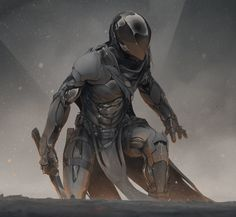 This HD wallpaper is about gray body armor video game wallpaper, warrior, sword, science fiction, Original wallpaper dimensions is file size is Arte Ninja, Arte Robot, Fantasy Anime, Sci Fi Fantasy, Space Fantasy, Character Concept, Character Art, Character Design, Armor Concept