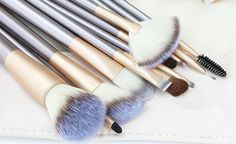 1 Professional Makeup Brush Set With Case * Check this awesome product by going to the link at the image. (Note:Amazon affiliate link) #Makeup