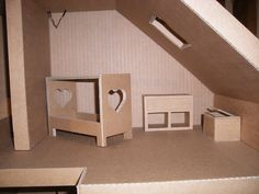 Maison en carton avant déco