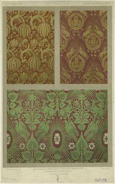 Textile Designs With Animals, 14th Century.