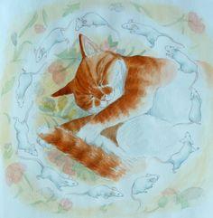 'Dreaming Cat'.