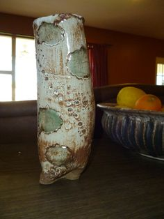 Handmade CreamyWhite Slender  Planter Garden Pot With by rootsfarm, $30.00