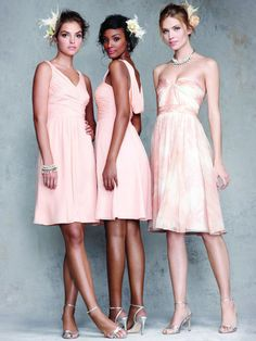Gorgeous!    @Kristy D. *IF* you have a change of heart again, these would be FABU bridesmaid dresses for Hawaii...I could wear the patterned one, and the others girls the pink!  :)