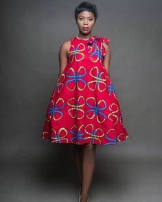 """The """"Oni Dress"""" is A Vivacious Red Dress… – African Fashion Dresses - 2019 Trends Short African Dresses, Ankara Short Gown Styles, Latest African Fashion Dresses, African Fashion Ankara, African Print Dresses, African Print Fashion, Africa Fashion, Modern African Fashion, African Prints"""