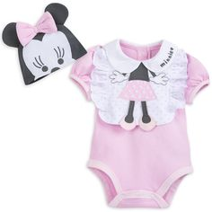 Product Image of Minnie Mouse Layette Romper and Bib Set for Baby # 1 Source by Swimwear Disney Girls, Baby Disney, Minnie Mouse Nursery, Baby Swimwear, Simply Crochet, Disney Merchandise, Little Girl Fashion, Baby Girl Newborn, Baby Dress