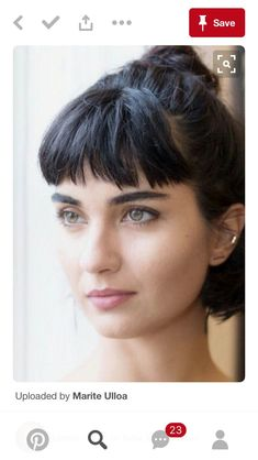 34 Greatest Short Haircuts and Hairstyles for Thick Hair for 2019 - Style My Hairs Short Brown Hair, Short Hair With Bangs, Hairstyles With Bangs, Pretty Hairstyles, Short Hair Cuts, Short Hair Styles, Short Fringe Hairstyles, Long Bangs, Haircuts