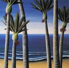 Nikau Palms by Diana Adams for Sale - New Zealand Art Prints Nz Art, Art For Art Sake, New Zealand Landscape, New Zealand Art, Maori Art, Kiwiana, Amazing Street Art, Botanical Drawings, Contemporary Artists