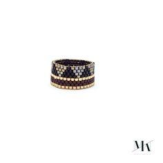 Bague en tissage de perles japonaises.Japanese beads Ring.