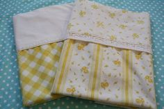 Dreamy Vintage Pillowcases Yellow Coordinating by SugarSweetSheets, $8.98