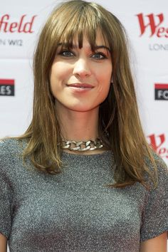 Fringes: Get Inspired By The Best Celebrity Bangs - Alexa Chung with a light, choppy fringe from InStyle.com