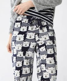Pantalon ours marin - Bas - Tendances printemps été 2017 en mode femme chez OYSHO online : lingerie, vêtements de sport, pyjamas, bain, maillots de bain, bodies, robe de chambre, accessoires et chaussures.