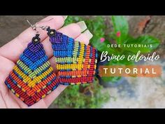 13 x 50 cm Macrame Earrings Tutorial, Earring Tutorial, Bracelet Tutorial, Beaded Earrings, Rope Jewelry, Macrame Jewelry, Macrame Bracelets, Loom Bracelets, Macrame Cord