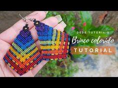 13 x 50 cm Macrame Earrings Tutorial, Earring Tutorial, Bracelet Tutorial, Beaded Earrings, Rope Jewelry, Macrame Jewelry, Macrame Bracelets, Loom Bracelets, Macrame Cord