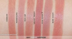 Life's Entropy | Beauty Reviews, Swatches, and Lifestyle Blog: MAC Lipstick Collection 2013 (70 Shades!)