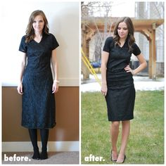 Merricks Art: Refashion clothing for a better fit..Love this girl's blog  style.Great talent.