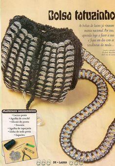 """Idées pour faire un bracelet """"gourmette"""" ou manchette avec des languettes de canettes reliées entre-elles par du crochet - tutoriel"""