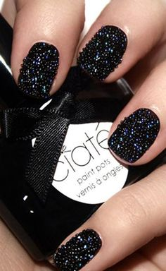 This is a caviar manicure. Interesting.