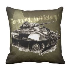 M8 Greyhound and M4 Sherman tank Throw Pillow - home gifts ideas decor special unique custom individual customized individualized