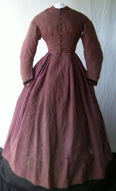 Circa 1860s wool dress