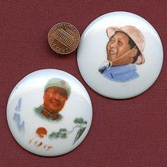 Zwei Vorsitzenden Mao Zedong Abzeichen 1968 von VintageNecessities