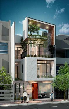 The Bay Villa Phuket by Nostalgia design. Architecture Design, Facade Design, Exterior Design, Architecture Interiors, Contemporary Architecture, Contemporary Design, House Front Design, Modern House Design, Home Design