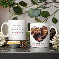 First Christmas Photos, Christmas Couple, Couple Mugs, Couple Gifts, Picture Mugs, Photo Mugs, Metal Wall Decor, Metal Wall Art, Wall Art Designs