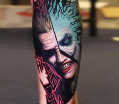 The Joker tattoo by Dave Paulo