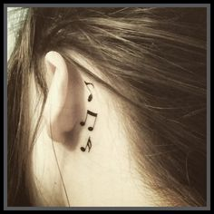 This set includes 3 tattoos These are small music note tattoos. Looks great behind your ear or anywhere you want to put them. ...DIRECTIONS